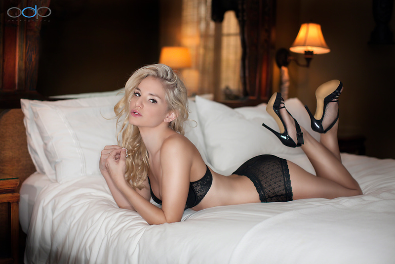 Liz on White Bed by Swede