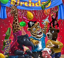 animal birthday party by martyee