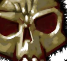 Dead monkey skull painting Sticker