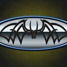 Classic Blue & Grey Batman Tribal by joshjen10
