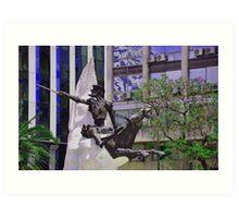 Don Quijote de la Mancha y Rocinante............... Art Print
