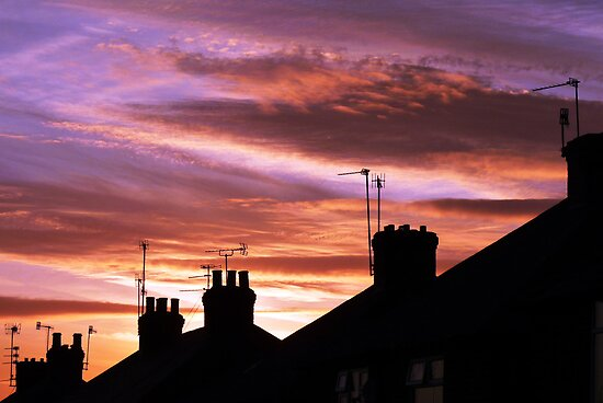 Urban Sunset - Nottingham by Phil Howcroft