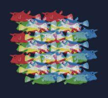 RGB Fish [rainbow meatball] by dennis william gaylor