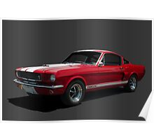 1965 Mustang Fastback GT 350 Poster