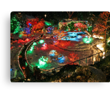BUTCHART Gardens : Winter Wonderland Canvas Print