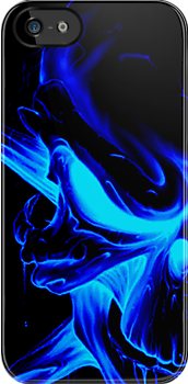 Blue skull Case 1 (GLOW) by MrBliss4