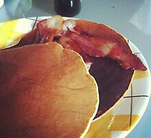 pancakes and bacon by emmar