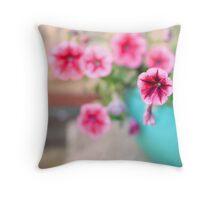 Pink Patunia Throw Pillow