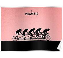 99 Steps of Progress - Vitamins Poster