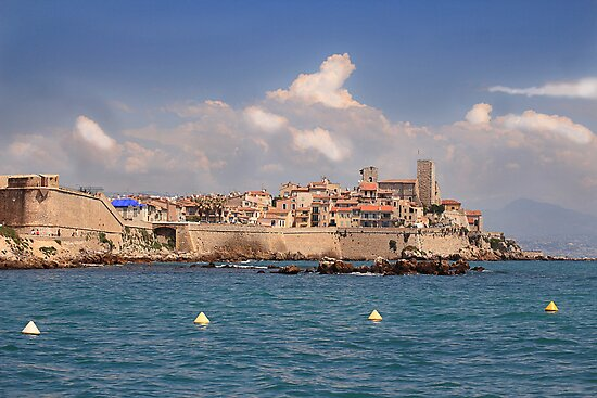 Storm clouds over Antibes France. by Paul Pasco
