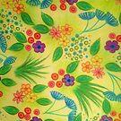 WILDFLOWER FANCY 3 - Cheerful Fresh Green Lovely Floral Garden Pattern Girly Feminine Trendy Flowers by EbiEmporium