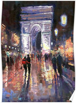 Paris Miting Point Arc de Triomphie by Yuriy Shevchuk