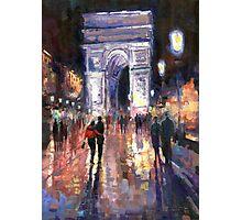 Paris Miting Point Arc de Triomphie Photographic Print