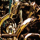 Motorcycle Engine and Chrome by Jay Lethbridge