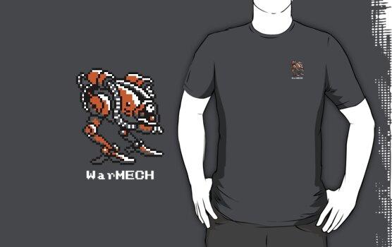 WarMECH Final Fantasy 1 NES TeeShirt - small logo by kalitarios