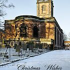 Card - St Modwen's Church, Burton - in the Snow  by Rod Johnson