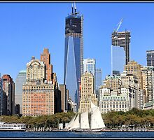 Schooner Off Lower Manhattan by Mikell Herrick