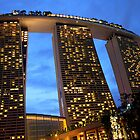 Marina Bay Sands Hotel, Singapore, at Sunset by Carole-Anne