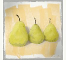 Three Pears by Linda Lees
