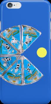 dairylea pacman, ipod case by 10naruto23