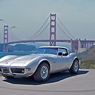 1970 Corvette at the Golden Gate by DaveKoontz