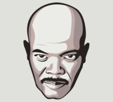 Samuel L. Jackson - Moustache T-Shirt by FacesOfAwesome