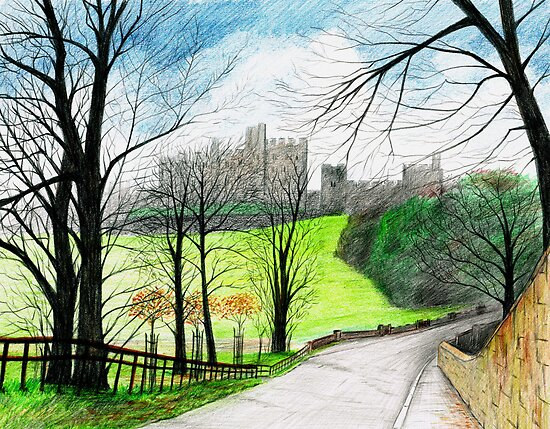 Alnwick Castle in Winter by SerendipityArt