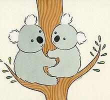 Two Koalas Sharing a Tree by zoel