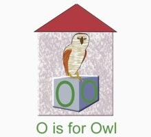O is for Owl Play Brick T-shirt Kids Clothes