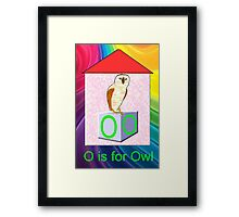 O is for Owl Play Brick Framed Print