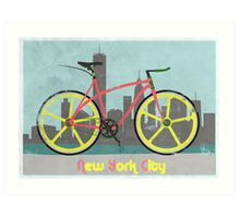 Love New York, Love to Cycle Art Print