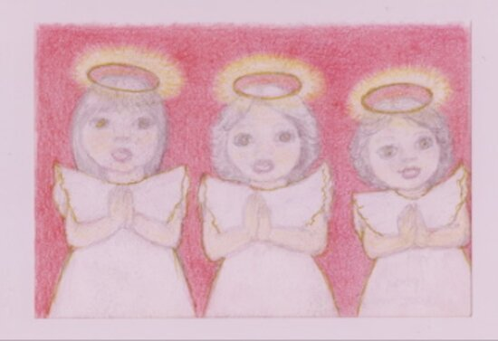 three Xmas Angels  by MardiGCalero