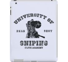 College of sniping iPad Case/Skin