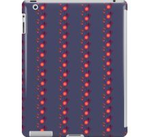 Orange floral pattern on dark violet iPad Case/Skin