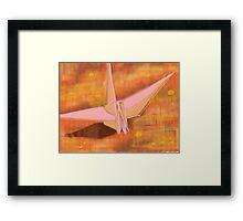 Paper Crane Framed Print