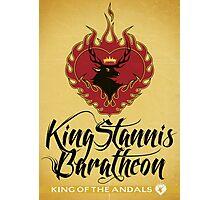 Stannis Baratheon Sigil Poster II Photographic Print