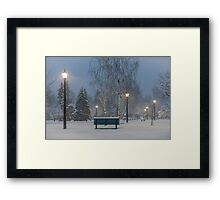 Winter At Home Framed Print