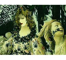 PHOTOMONTAGE ..This painting was created from the maestro Botticelli ,in the year 1482...my visage a few time after !! Photographic Print