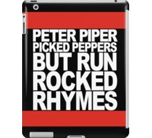 Run Rocked Rhymes iPad Case/Skin