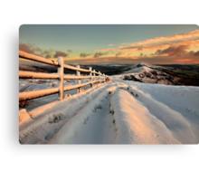 Snowy Mam Tor Canvas Print