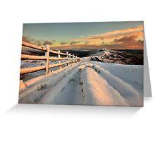 Snowy Mam Tor Greeting Card