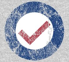 Distressed Check Mark Roundel by Gello