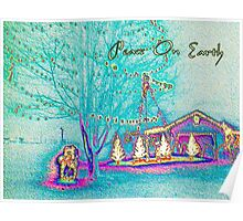 Peace On Earth Holiday Scene Poster