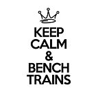 Keep Calm & Bench Trains by WaterMelanie