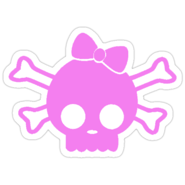 Hello Kitty Skull Pink by thatstickerguy