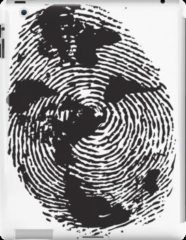 Globe Finger Print T-shirt: One Of A Kind by SFDesignstudio