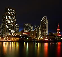 Embarcadero Holiday Lights  by fototaker