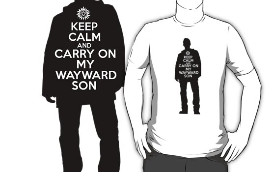 Dean Winchester - Keep Calm and Carry On My Wayward Son by Emma Davis