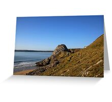 Three Cliffs Greeting Card