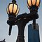 Lampost &amp; Eureka Tower, Melbourne by helenmentiplay